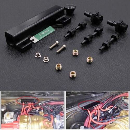 Car 6 Port Vacuum Intake Manifold Wastegate Turbo 1//8 NPT Boost Kits Black