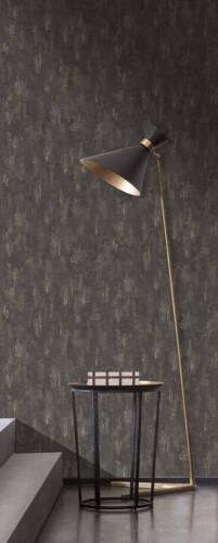"""30694-7 - Design nappes papier peint /""""AROUND THE WORLD/"""" Papier Peint béton-Look Gris foncé"""