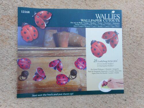 Pkg of 25 Ladybugs Wallpaper Cutouts by Wallies// 12168// craft// wall decor// NEW