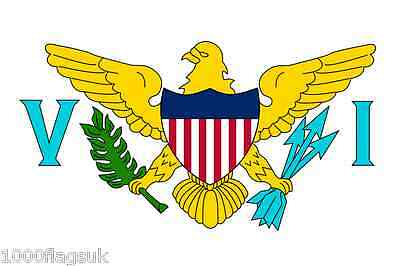 US Virgin Islands Sleeved Courtesy Flag ideal for Boats 45cm x 30cm