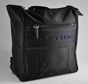 Image Is Loading Vintage United Colors Of Benetton Bag Black Nylon