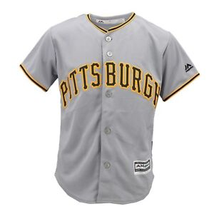 Pittsburgh-Pirates-Official-MLB-Majestic-Cool-Base-Kids-Youth-Size-Jersey-New