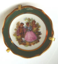 TINY LIMOGES PLATE IN GOLD TONE EASEL BACK - DOLLS HOUSE?   ***