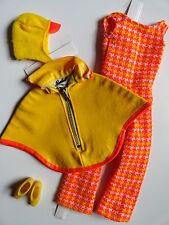 Barbie ƹ ӝ ʒ vintage mod poncho Put-Ons #3411 completamente de 1971