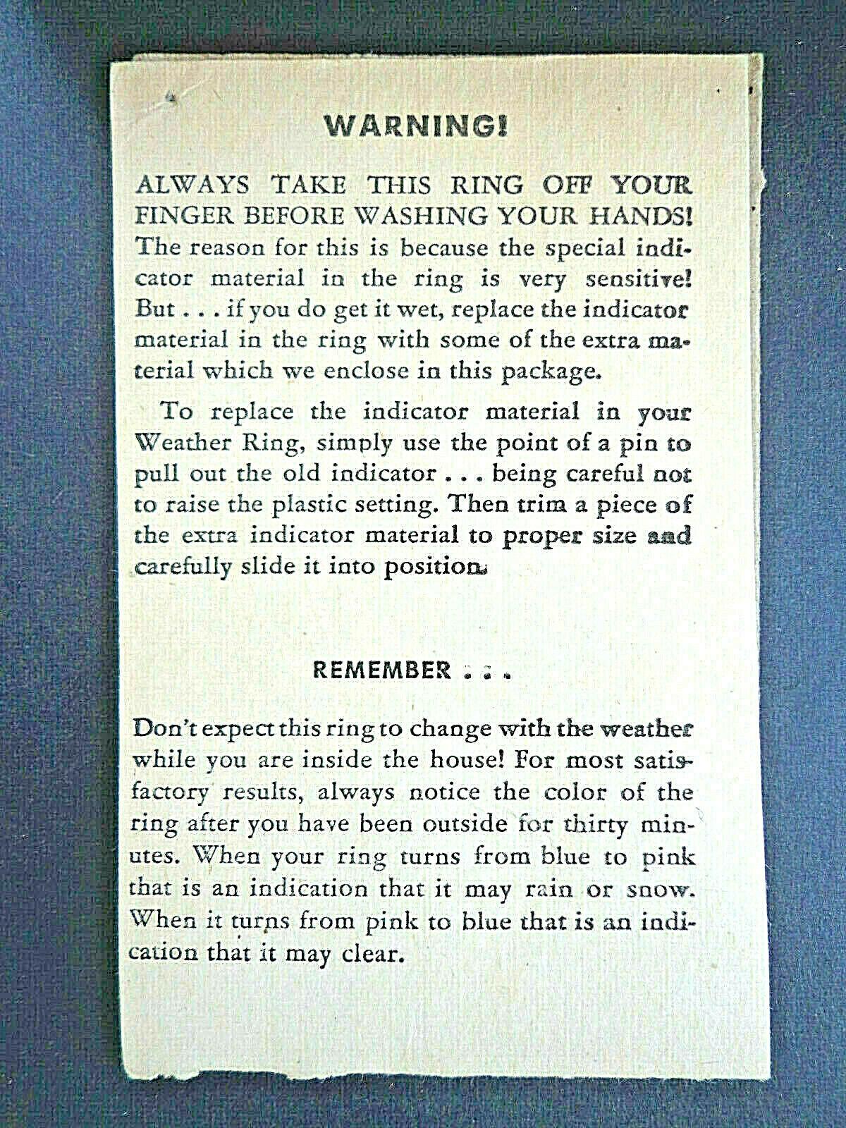 Lone Ranger Weather Ring Ring Ring w  original folder 1946 General Mills premium INV2796 357a69
