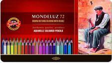 Mondeluz Aquarell koh-i-noor 3727 coloured pencils 72 colours in metal box