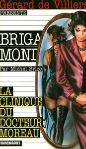 Livre-de-poche-policier-la-clinique-du-Dr-Moreau-Gerard-De-Villiers-no-188-book