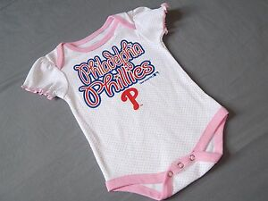 MLB Official Philadelphia Phillies Creeper Infant Bodysuit New With Tags