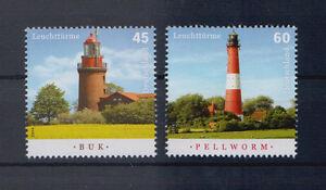 BRD-MiNr-3089-3090-Postfrisch-Leuchttuerme-Buk-Pellworm-S-388d