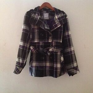 quite nice favorable price fair price Details about NWT DOLLHOUSE PLAID WOOL BLEND BUTTON DOWN BELTED PEACOAT Sz  3x