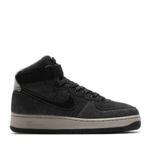 2016 WMNS Nike Air Force 1 Hi SE SZ 6.5 Black Dark Grey Obsidian 860544-003