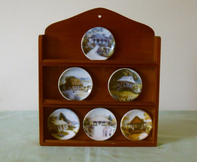 MILLS & BOON HARLEQUIN AUSTRALIAN HOME MINIATURE PLATE SET : with ...