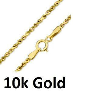 Pure 10k Yellow Gold Hollow Rope Chain