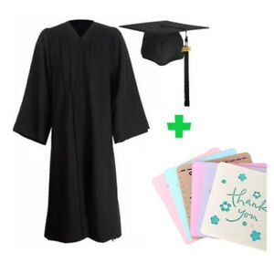 Graduation Cap and Gown 2019 Year Charm Bachelor Unisex + 6 Free Greeting Cards