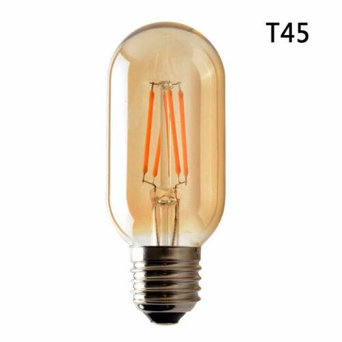 4 W T45 DEL E27 vintage industriel Écureuil Cage Filament Lumière Ampoule De Lampe