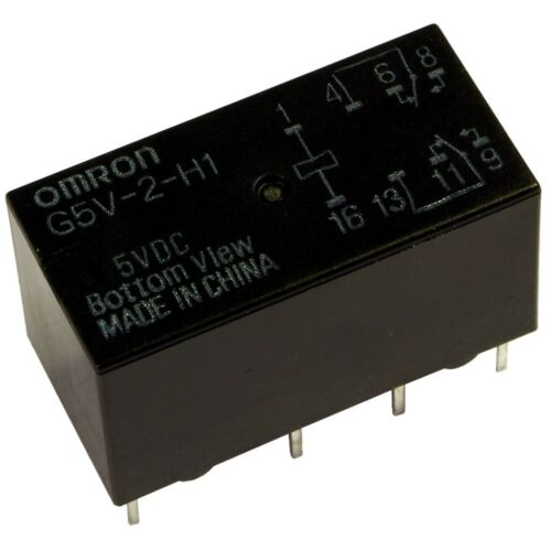 OMRON G5V-2-H1-5 Relais 5V DC 2xUM 2A 167R PCB Signal Relay 854989