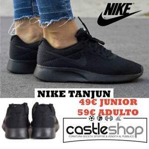 Nike tanjun scarpe UOMO running corsa fitness moda NERO BLACK 812654 001
