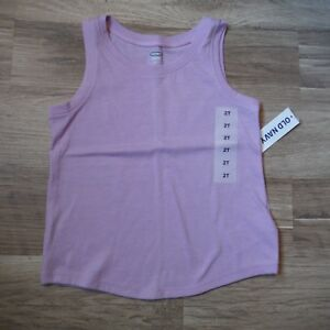 Old-Navy-Lavender-Tank-Top-Girls-18-24-months-Solid-Cotton-Sleeveless-shirt-New