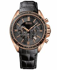 Hugo Boss 1513092 Men's Chronograph Rose Gold Stainless Steel Leather Watch