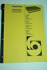 Bang & Olufsen Beocord VHS 90 Service Manual