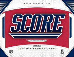 2018-Score-Scorecard-Football-Parallel-Cards-Pick-From-List-251-440-With-Rookies