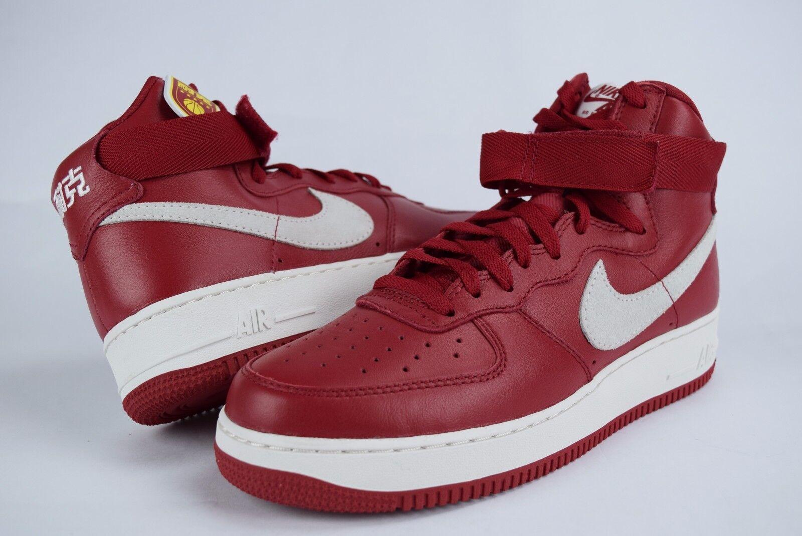Nike Air Force 1 HI Retro QS sz 9-10 743546 600 NAI KE China red supreme white x