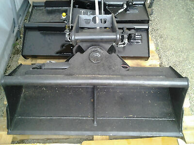 Grabenräumschaufel hydraulisch 100cm für Minibagger MS01 Grabenräumlöffel