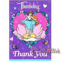 Thumbelina Vintage Thank You Notes (8) Birthday Party Supplies Thanks Cards