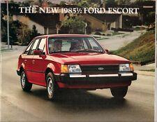 Ford Escort 1985 USA Market Sales Brochure Base L Select GL Luxury