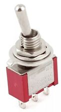 Qty 2 Ac 250v2a 120v5a Onon 2 Position Spdt Mini Micro Toggle Switch Red Ts