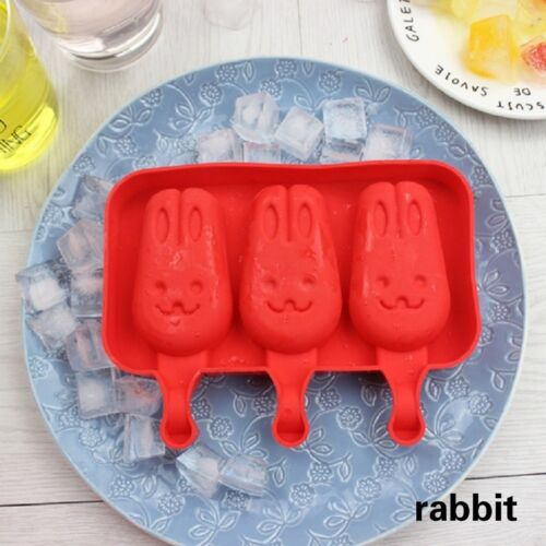 Silicone Lolly Maker Ice Cream Popsicle Mould Frozen Pan Ice Pop Mold Tray DIY N
