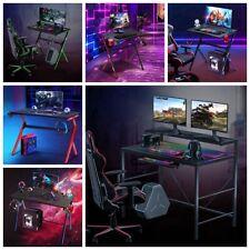 Rgb Led Gaming Desk Computer Table Pc Office Ergonomic E Sport Gamer 30 43 Inch