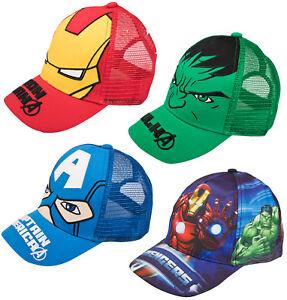 fad960e38 Details about Boys Marvel Avengers Baseball Cap Novelty Character Peaked  Summer Beach Hat