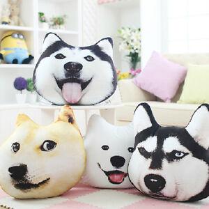 Plush 3d Printed Samoyed Husky Doge Dog Throw Pillow Alaska Dog
