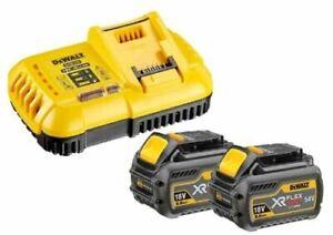 Pack 2 batteries FLEXVOLT 54V 6Ah + 1 chargeur en boite carton - DEWALT - DCB118