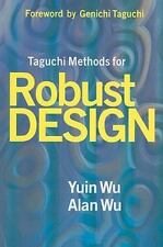 Taguchi Methods for Robust Design by Yuin Wu and Alan Wu (2000, Paperback)