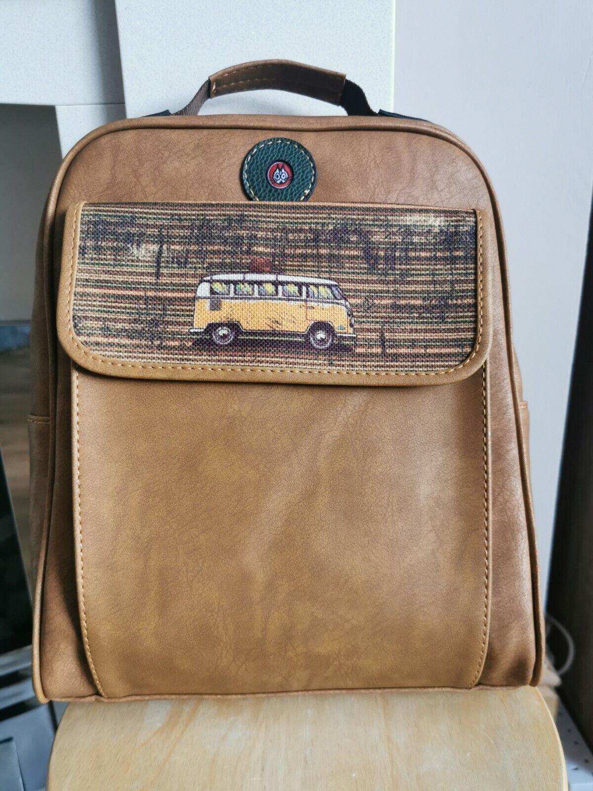 Leather Backpack Men Bag Travel Laptop Shoulder Rucksack School Collage Vintage