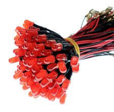 100pcs Bright 5mm Red 12v Led Diodes With Wired Lead