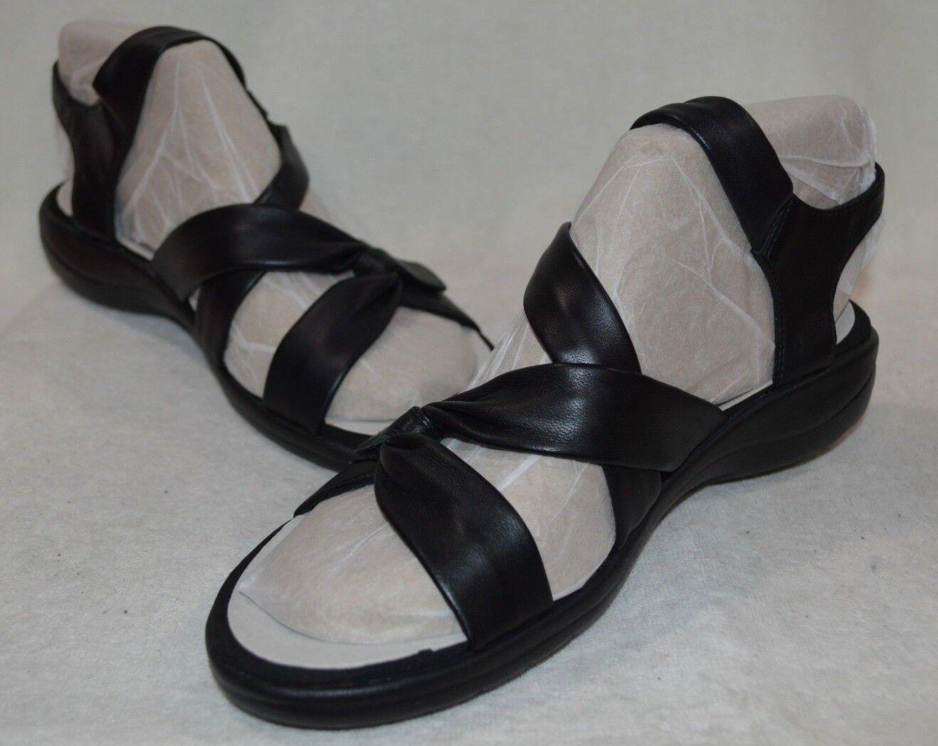 Clarks Femmes Saylie lune en Cuir Noir Sandale-Tailles 8.5 10 nwb