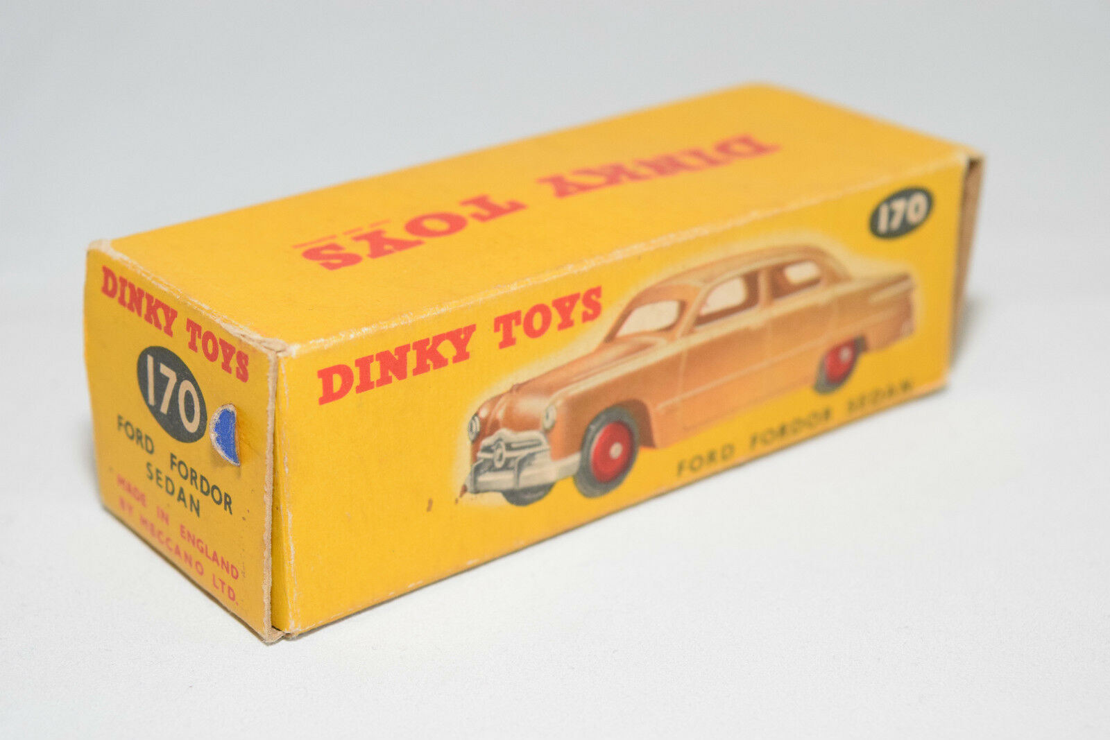 DINKY TOYS 170 FORD FORDOR SEDAN ORIGINAL EMPTY BOX EXCELLENT CONDITION RARE