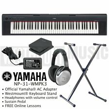 Yamaha NP-32 Piaggero Keyboard + Stand + Headphones + Sustain Pedal + Lessons
