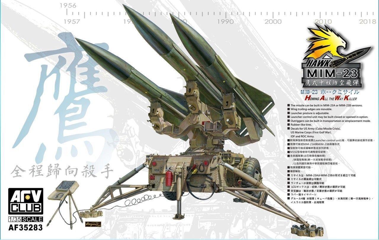 1 35 AFV Club U.S. MIM-23 HAWK anti Aircraft Missile