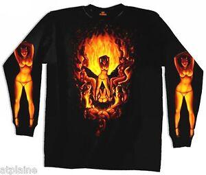 T-Shirt-ML-SKULL-BABES-Taille-L-Style-BIKER-HARLEY