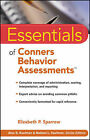 Essentials of Conners Behavior Assessments by Elizabeth P. Sparrow (Paperback, 2010)
