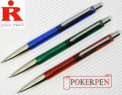 GREEN black ink 3 pen 2 refills PIRRE PAUL/'S R 610 retractable ballpoint pen C