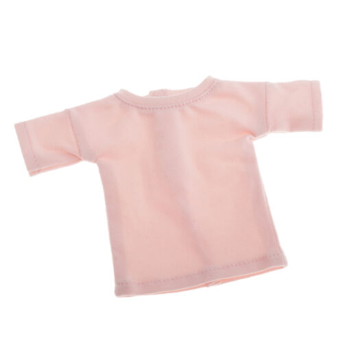 1//6 Doll Accessories T-shirt Short Sleeve Clothes for Blythe BJD Ball Doll