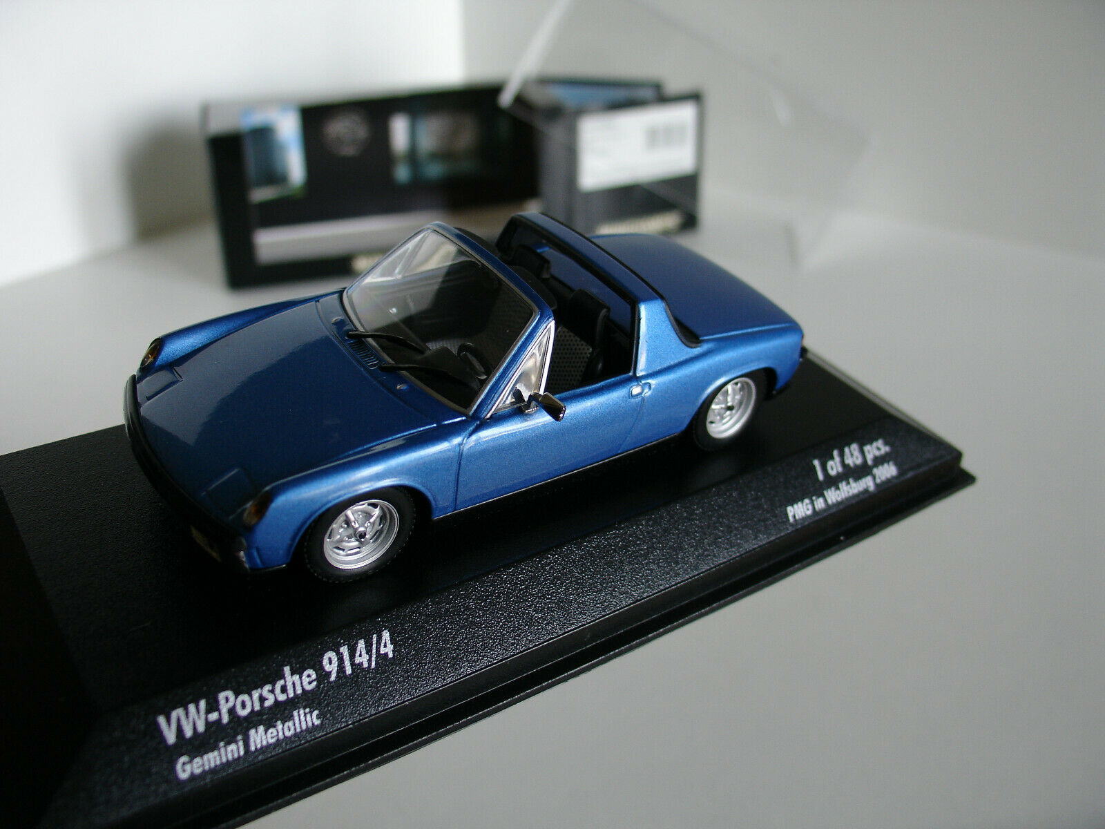 1 43 VW-PORSCHE 914 4 1973 PMG IN WOLFSBURG 2006 L.E 48 pcs by MINICHAMPS