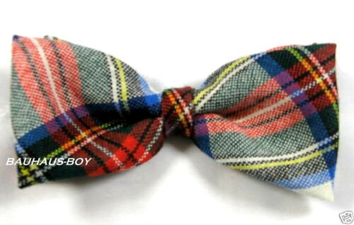 BOW TIE DRESS STEWART SCOTTISH TARTAN PURE WOOL MADE IN SCOTLAND KILTWEAR KILTS