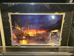 Disney-Parks-Pirates-of-the-Caribbean-Ship-Deluxe-Print-NEW-2019-Joel-Payne