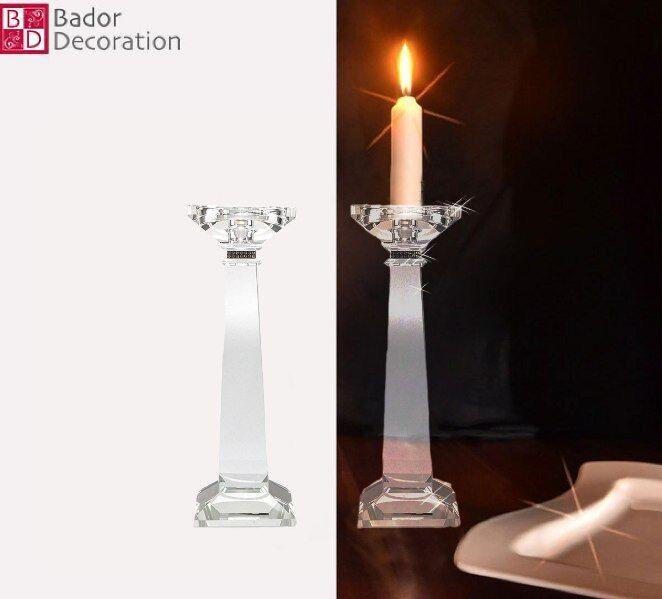 2er Set Kristallkerzenständer Kerzenhalter Kerzenleuchter Leuchter Kristall NEU    Lebensecht